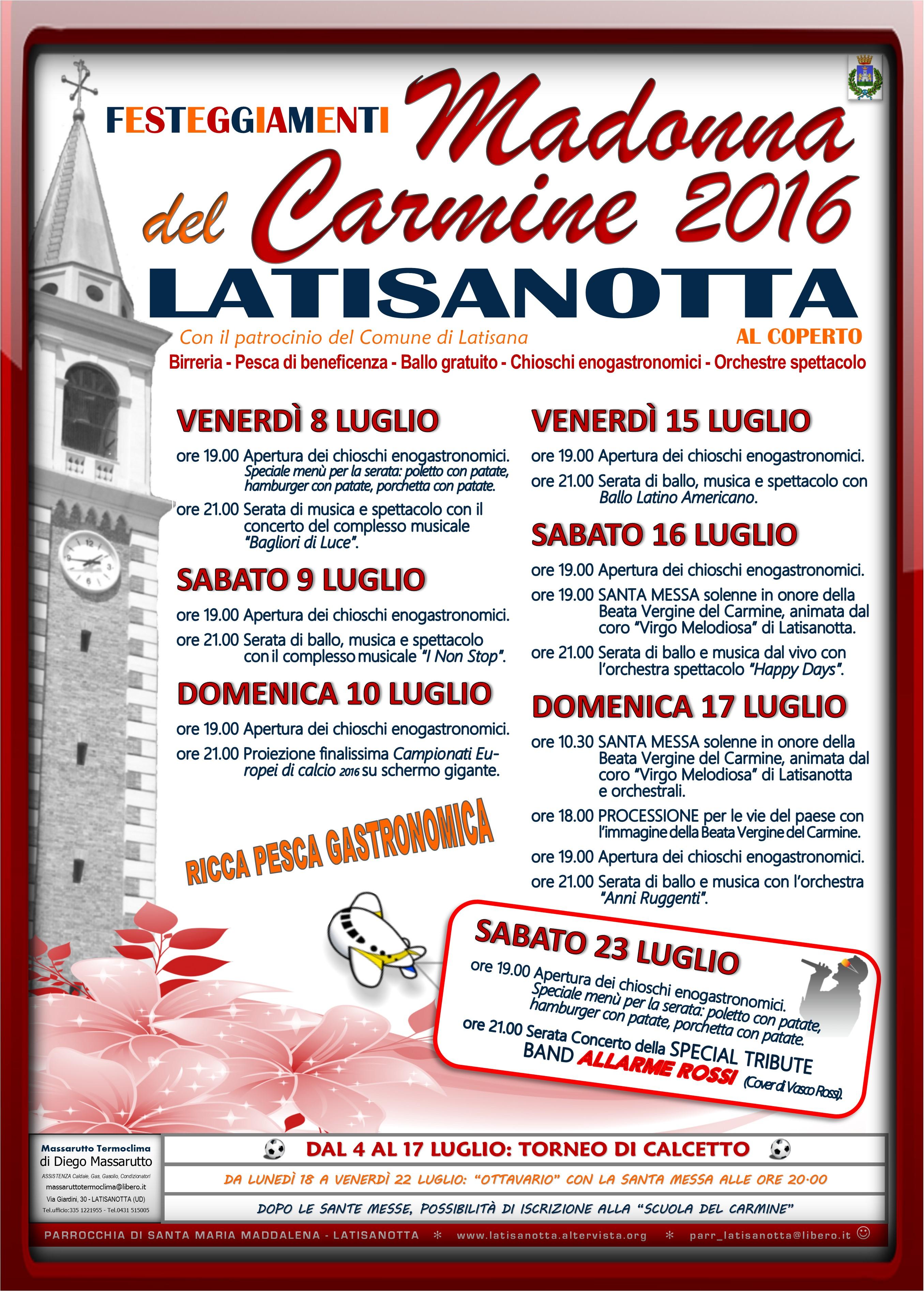 LATISANOTTA - MADONNA DEL CARMINE 2016